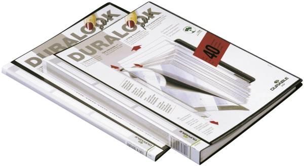 DURABLE Sichtbuch A4 schwarz 2431 01 10 Hüllen