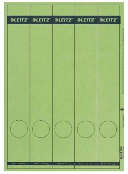 1688 PC beschriftbare Rückenschilder Papier, lang schmal, 125 Stück, grün