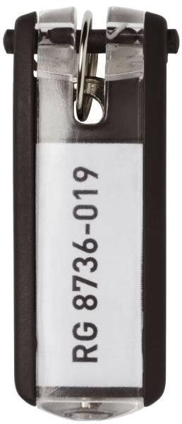 Schlüsselanhänger KEY CLIP schwarz Beutel mit 6 Stück