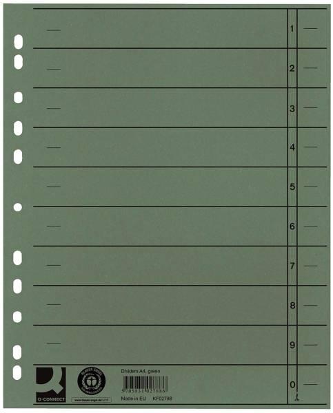 Trennblätter durchgefärbt A4 Überbreite, grün, 100 Stück