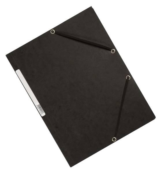 Eckspanner Karton A4 mit Gummizug schwarz
