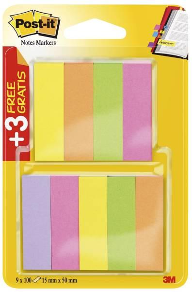 Page Marker Neon Promotionset 6+3 gratis: 9 Blöcke, davon 3 gratis, 50 x 15 mm