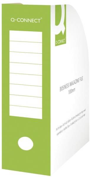 Q-CONNECT Stehsammler A4 100mm grün KF15847 Karton