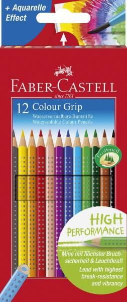 FABER CASTELL Farbstiftetui Grip 2001 12ST 112412