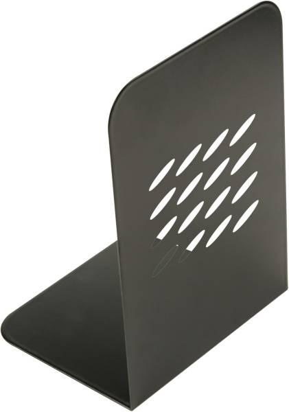 Buchstützen schwarz, 134 x 190 x 110 mm, 2 Stück