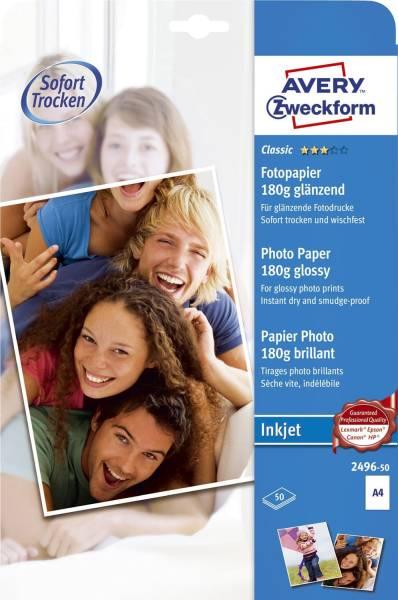 2496 50 Classic Inkjet Fotopapier DIN A4, glänzend, 180 g qm, 50 Blatt