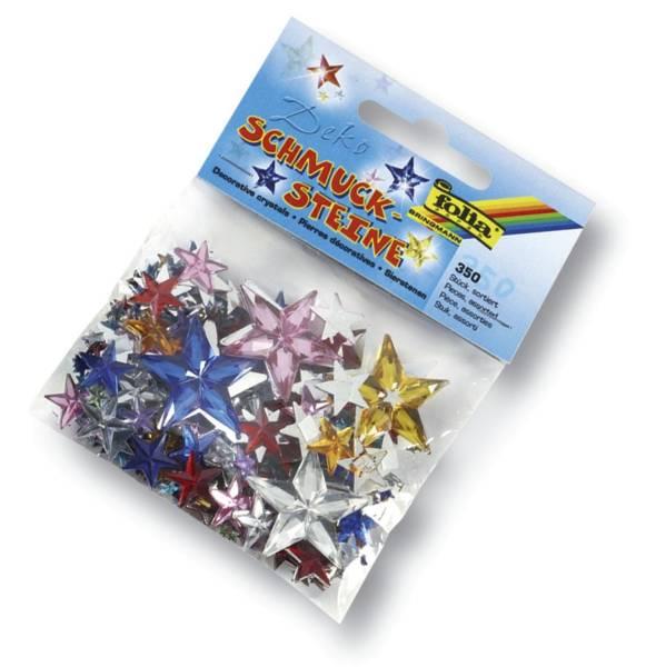 Schmucksteine Sterne ca 350 Teile, Größen Farben sortiert
