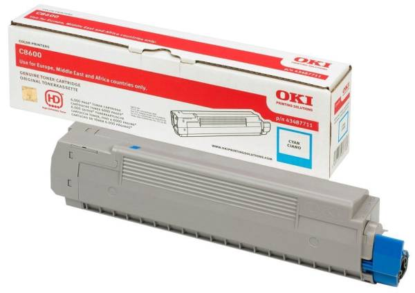 OKI Lasertoner cyan 43865723