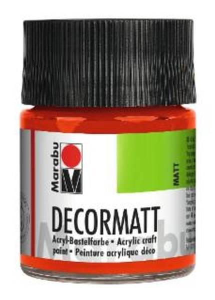 Decormatt Acryl, Zinnoberrot hell 030, 50 ml