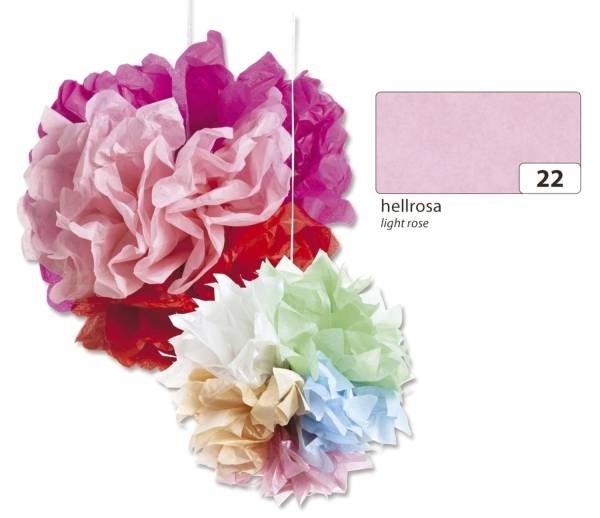Blumenseide 50 x 70 cm, 5 Bogen, hellrosa
