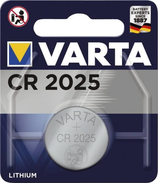 VARTA Batterie Knopf Lithium 3,0V 06025101401 CR2025 1St