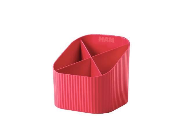 HAN Schreibköcher Re-X-LOOP rot 17238-917 4 Fächer