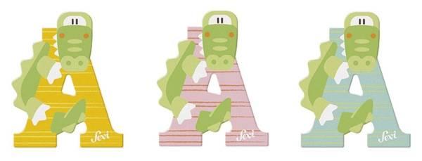 TRUDI Tierbuchstaben 10cm Alligator SEVI 83001/81601