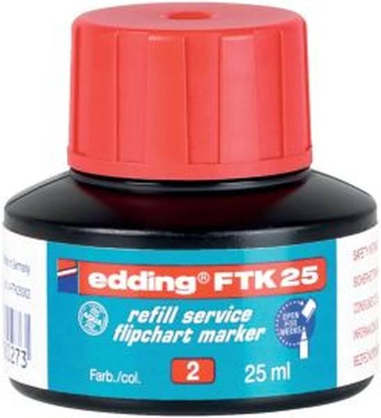 EDDING Nachfülltusche FTK25 rot 4-FTK25002