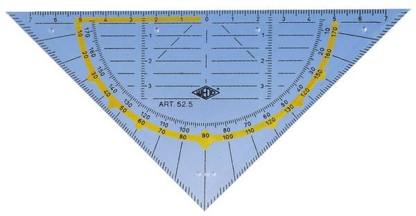 WEDO Geodreieck 16cm 0525 ohne Griff m. Facett