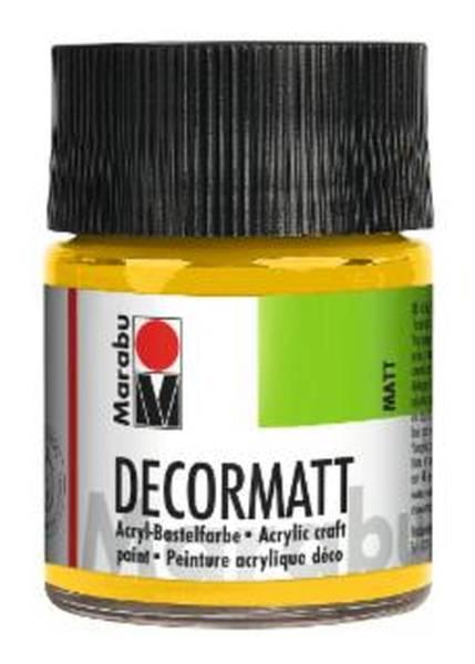 Decormatt Acryl, Mittelgelb 021, 50 ml
