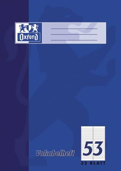 Vokabelheft LIN53 A4, 32 Blatt, liniert