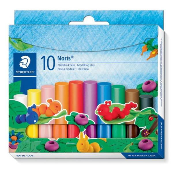 Plastilin Knete Noris Club 10 Farben im Kartonetui®