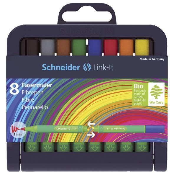 Faserschreiber Link It, 8 Farben im Etui