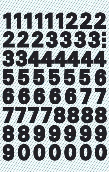 3781 Zahlen Etiketten 0 9, 9,5 mm, schwarz, selbstklebend, wetterfest, 120 Etiketten