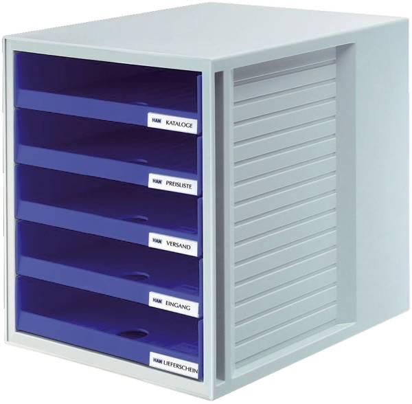 HAN Schubladenbox blau 1401-14 5 offene Schuebe