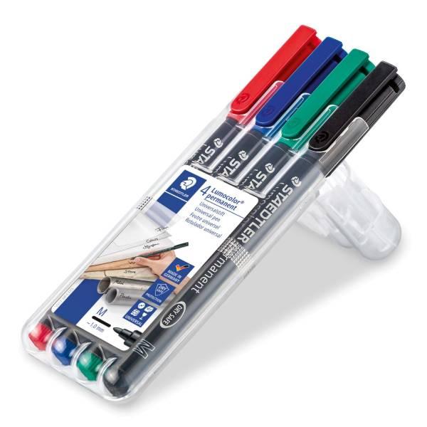Feinschreiber Universalstift Lumocolor permanent, M, Box mit 4 Farben®