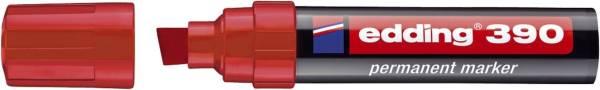 EDDING Permanentmarker 390 4-12mm rot 390-002 Keilspitze nachfüllbar