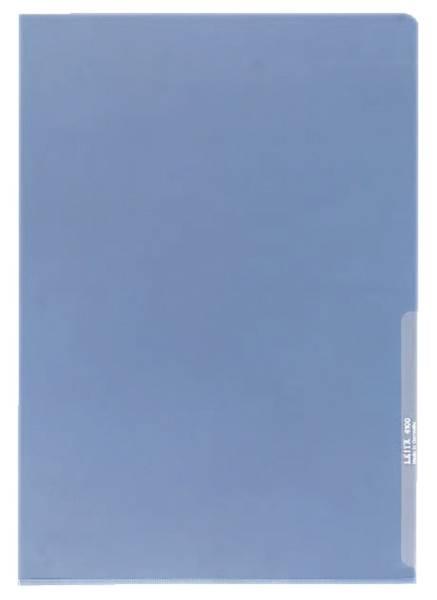 4100 Sichthülle Premium, A4, PVC, dokumentenecht, blau