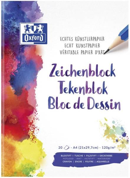 Zeichenblock A4, 20 Blatt, 120 g qm
