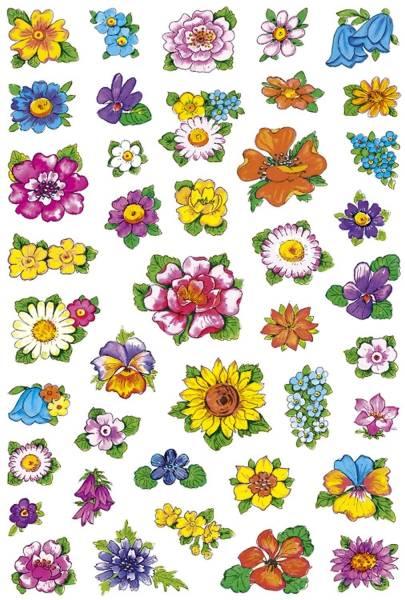 3522 Sticker DECOR Kleine Blumenköpfe