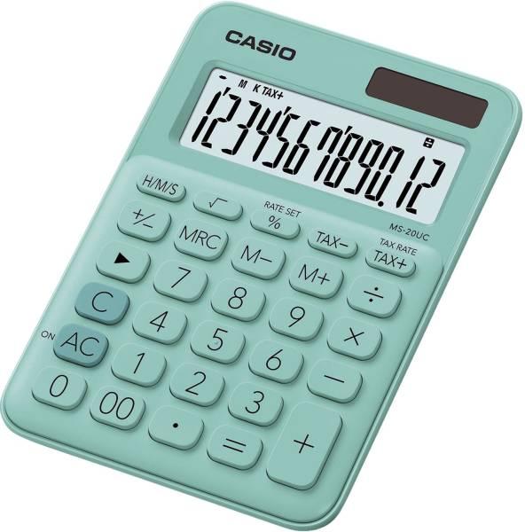 CASIO Tischrechner 12-stellig grün MS-20UC-GN