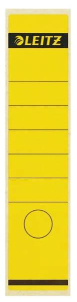 1640 Rückenschilder Papier, lang breit, 100 Stück, gelb