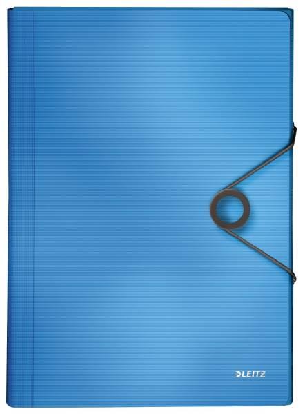 4579 Fächermappe Solid A4, 6 Fächer, PP, hellblau