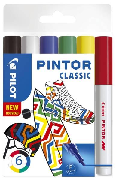 Kreativmarker Pintor Classic F, 6 Stück sortiert