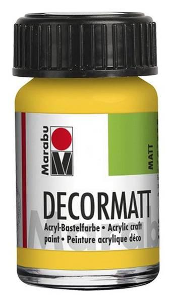 Decormatt Acryl, Mittelgelb 021, 15 ml