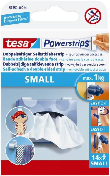 Powerstrips Small ablösbar, Tragfähigkeit 1 kg, weiß, 10 Stück®