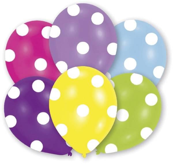 "Luftballon ""Polka Dots"" 6 Stück, sortiert"