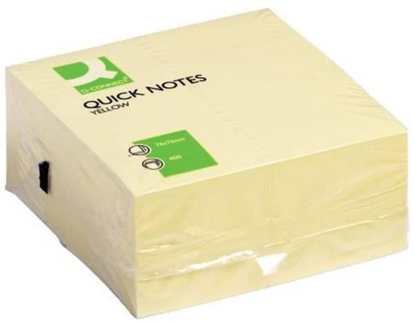 Q-CONNECT Haftnotizblock 76x76mm gelb KF01346 400BL
