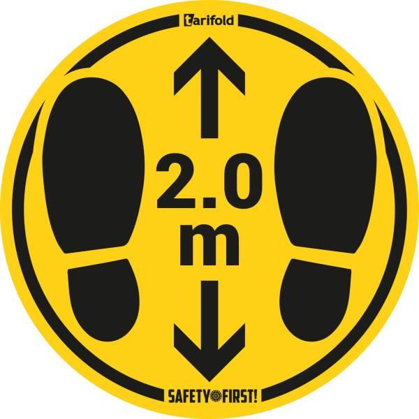 TARIFOLD Bodenaufkleber DM 35cm gelb-schwarz 2,0m raue Böden TARIFOLD T197856