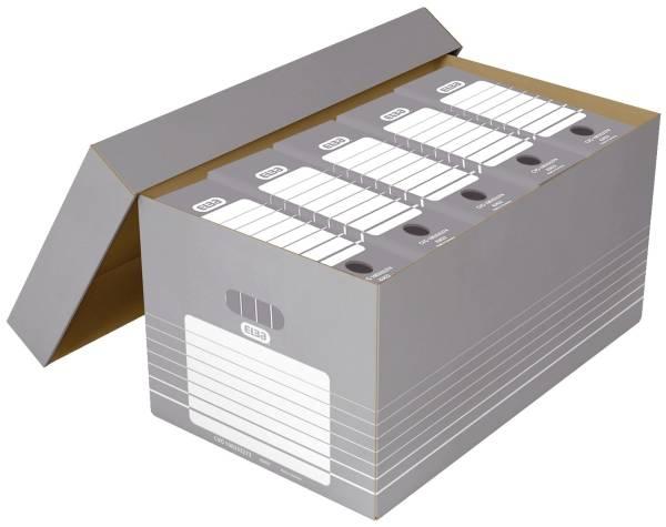 ELBA Transportbox Karton weißgrau 100333273 83427