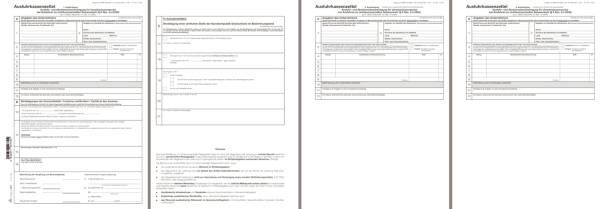 RNK Ausfuhrkassenzettel UST 2277