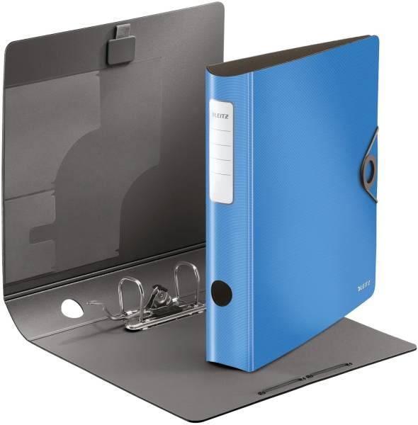 1048 Ordner 180° Active Solid A4, 6,5 cm, Innentaschen, Gummizug, hellblau
