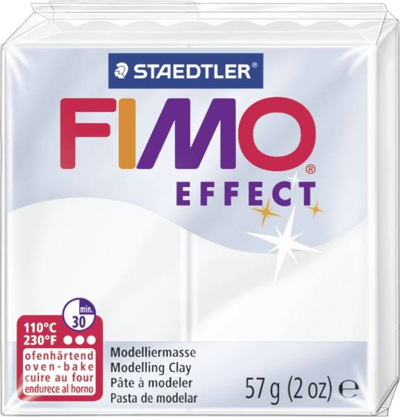 STAEDTLER Modelliermasse Fimo weiß transparent 8020-014 Soft 57g