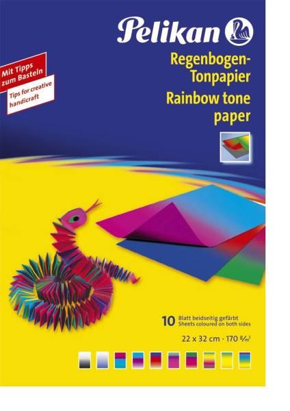 PELIKAN Tonpapier 23x33cm sortiert P137968 240M10 10BL