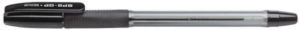 Kugelschreiber M, gummierte Griffzone, 0,4 mm, schwarz, BPS GP M B