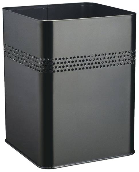 DURABLE Papierkorb 18,5L schwarz eckig 3320 01 Metall