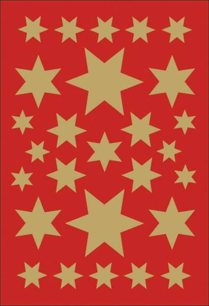 HERMA Schmucketikett Stern gold 3 Blatt 3927 Weihnachten
