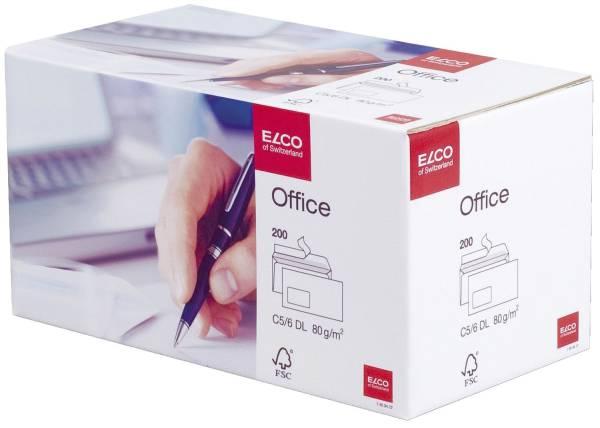 ELCO Briefhülle C5/6 m.Fe.Hk ws 74534.12 Office 80g 200St