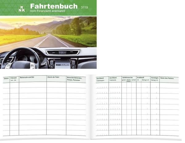 Fahrtenbuch für Pkw 64 Seiten, A6 quer