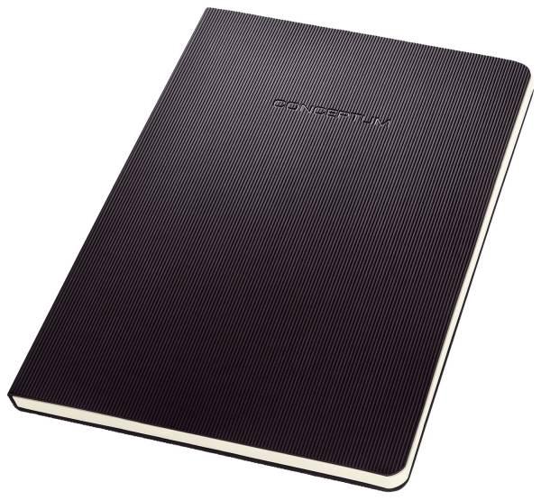 Notizblock ca A5, kariert, 120 Seiten, schwarz®